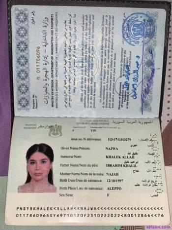 جواز سفر انجي خوري